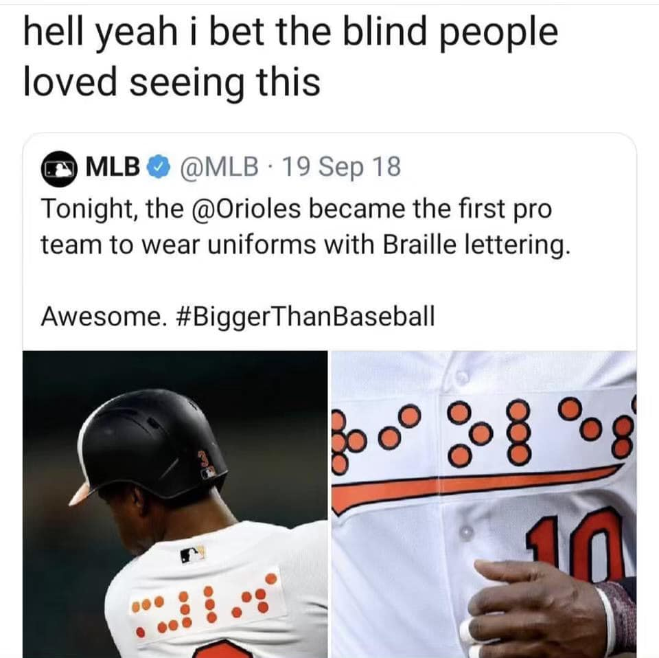 orioles braille uniform, braille uniform funny picture, funny picture braille uniform, orioles funny uniform picture, orioles braille jersey funny picture, braille jersey funny pictures