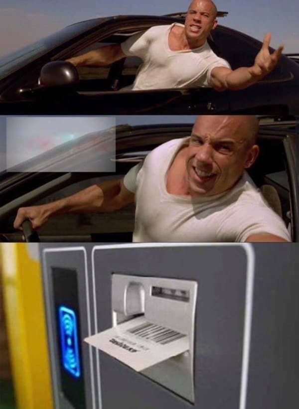 reaching for parking ticket funny picture, funny picture of reaching for parking ticket, fast and furious parking ticket meme, fast and furious parking ticket funny picture