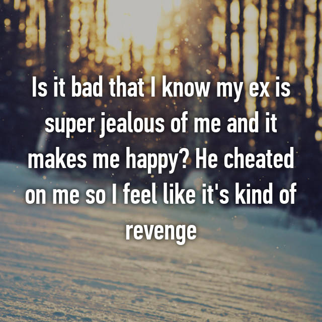 getting revenge on a cheater