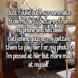 Roommates, roommates who steal things, crazy roommate stories, worst roommates, roommate nightmares, weird roommates, weird roommate confessions, people talk about their weirdest roommates, Whisper, confessions, relationship confessions, marriage secrets, relationships, girlfriends, boyfriends, dating confessions, people share, stories, private stories, trending sexy stories, whisper stories, embarrassing moments, viral stories, shareable, intimate moments, most-read stories, whisper originals, people confess, secrets, people share secrets,