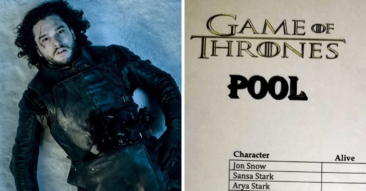Boss Creates Game Of Thrones Prediction Sheet To Guess Who Lives And