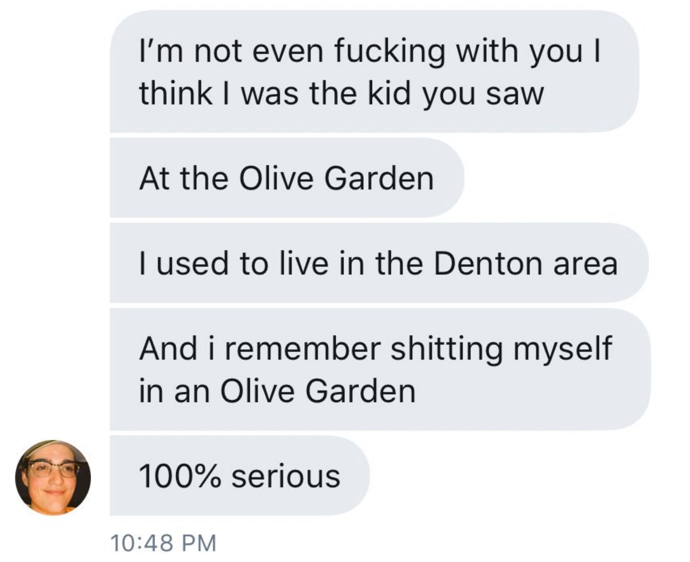 Girl Finds Boy Who Pooped His Pants In An Olive Garden In 2008 Due