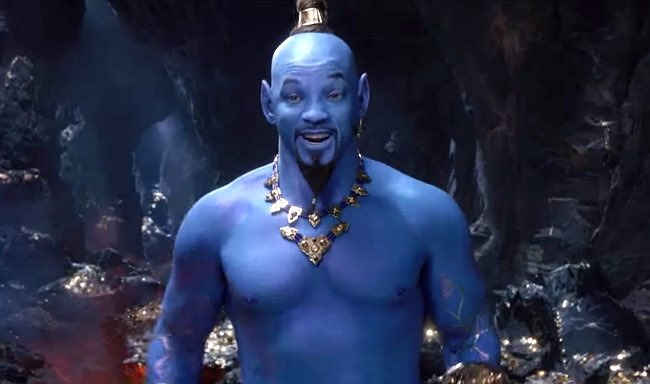 genie, Aladdin, Disney, live action Aladdin, new Aladdin movie, new genie, Will Smith, Will Smith as genie, people react to Will Smith as genie, new Aladdin trailer, Will Smith plays genie, twitter, trending tweets, tweets about Will Smith as genie,