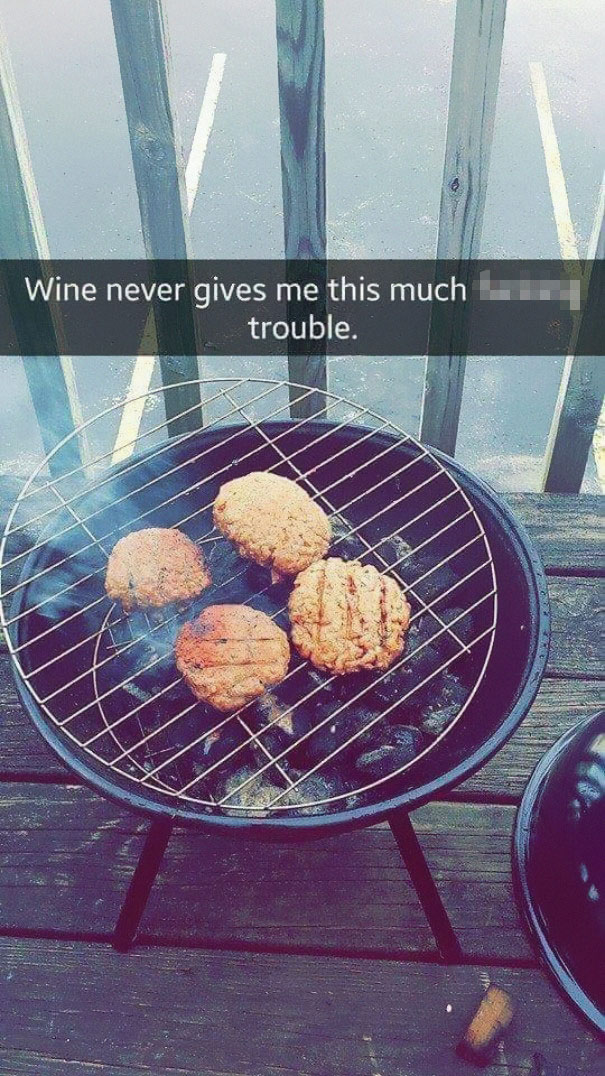 Fails, funny fails, girl fails at grilling, girl tries to grill, failed attempts, relatable fails, funny grilling fail, Imgur, reddit, trending, viral, snapchat story, grilling snapchats,
