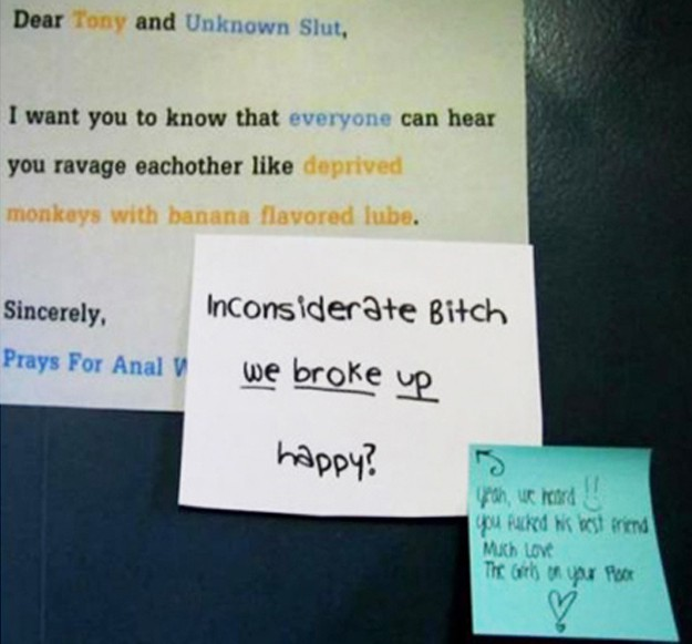 passive-aggressive notes, funny neighbor notes, neighbors having sex, loud sex, funny notes neighbors