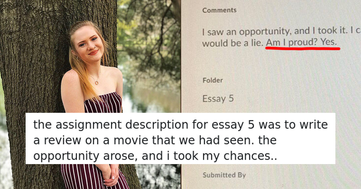 College Student Scores An 'A' For Genius One-Sentence Movie