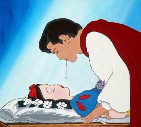 prince spitting into snow whites mouth, spitting into snow white's mouth, spitting into snow whites mouth funny picture, prince spitting into snow whites mouth funny picture
