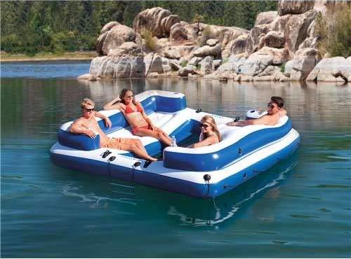 inflatable amazon island