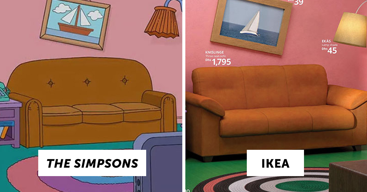 ikea recreated a bunch of famous tv living rooms using nothing but ikea products. Black Bedroom Furniture Sets. Home Design Ideas