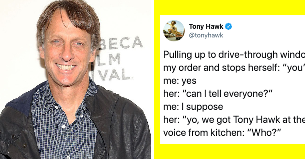 Tony Hawk Keeps Tweeting When People Don't Recognize Him And Keeps Getting Funnier
