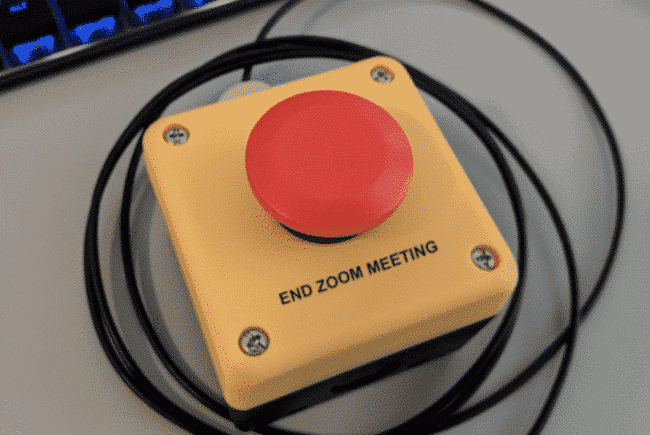 end zoom meeting panic button