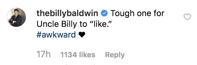 Billy Baldwin Instagram comment