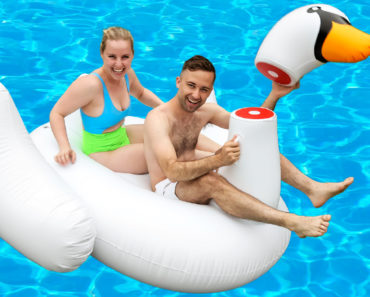 decapitated swan pool float