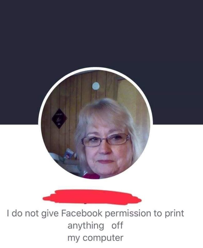 old woman, facebook