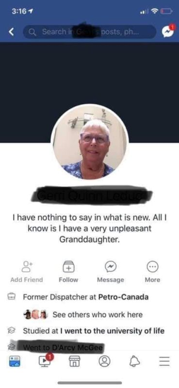 old woman facebook