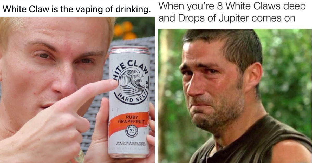 Literally Just 21 Hilarious White Claw Tweets And Memes