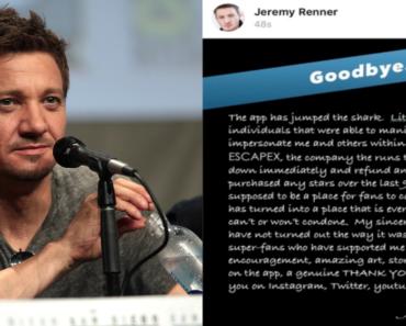 jeremy renner, app