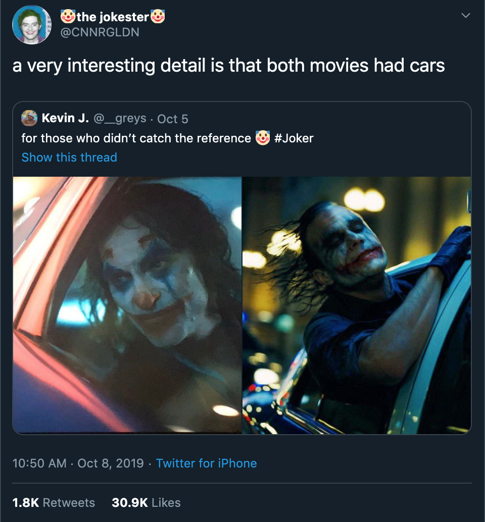 funny Joker movie tweets