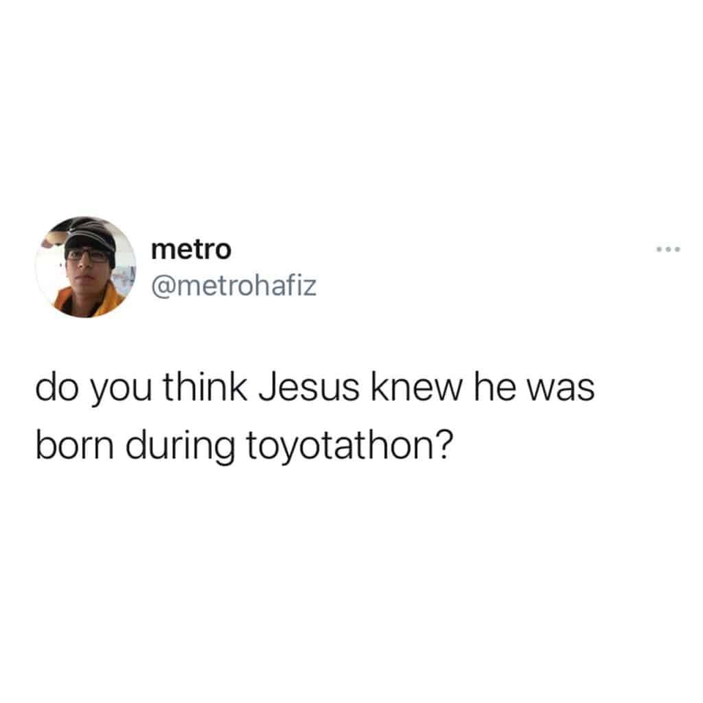 jesus birthday toyotathon, christmas memes, best christmas memes 2020