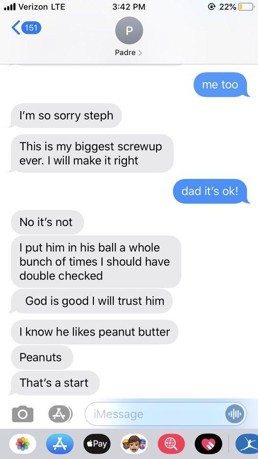dad lost hamster, lost hamster texts