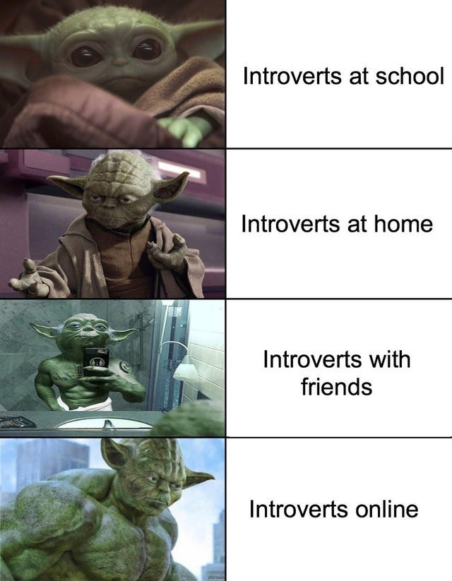 introverts baby yoda meme
