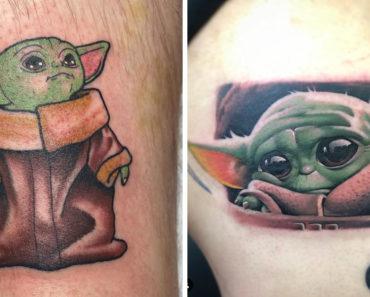 Baby Yoda tattoo, baby Yoda tattoos, baby yoda tattoo ideas, baby yoda white claw, baby yoda white claw tattoo