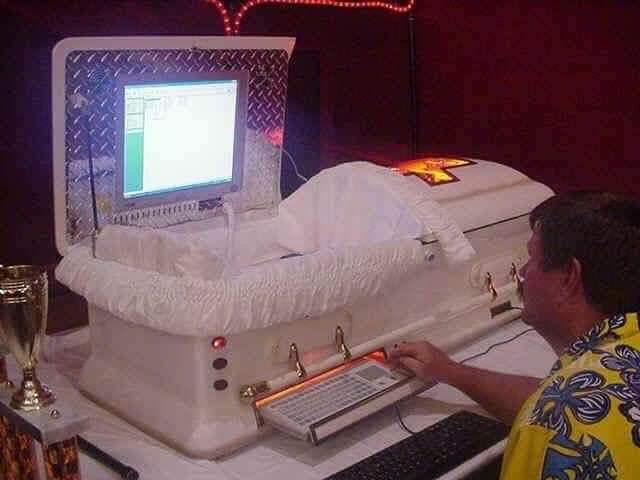 coffin computer set up cursed image, coffin computer set up cursed picture, coffin computer set up cursed pic