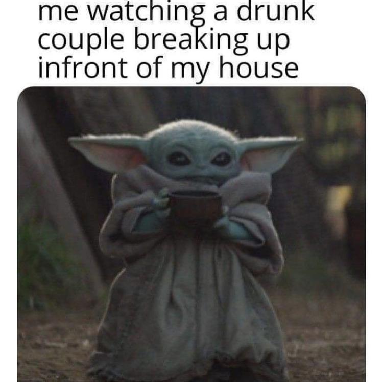 baby yoda sipping soup meme