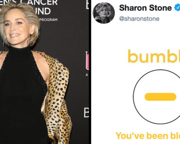 Bumble Accidentally Blocked Sharon Stone's Account Because They Thought It Was Fake, sharon stone bumble