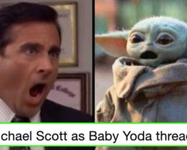 michael scott baby yoda