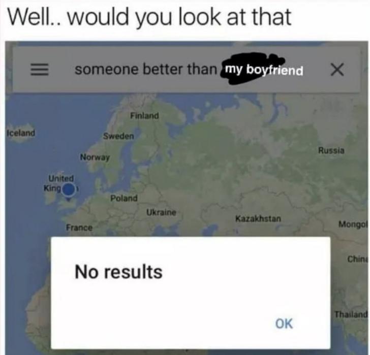 someone better than my boyfriend love meme, someone better love meme, funny someone better search love meme
