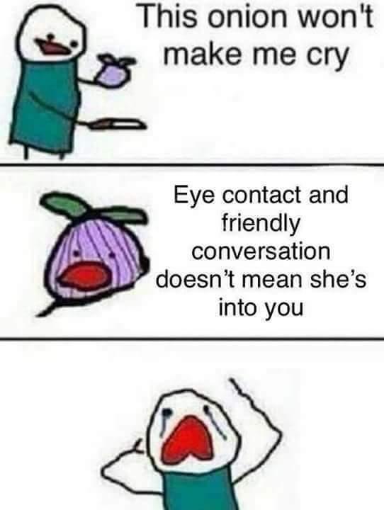 eye contact depression meme, funny onion won't make me cry depression meme, the onion won't make me cry depression meme
