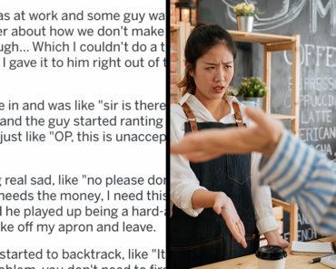 aita barista mean customer prank