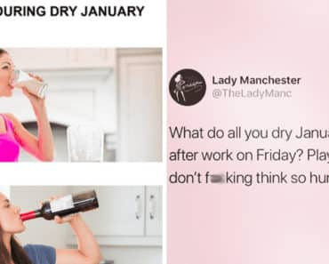 dry January, sober January, dry January meme, sober January meme