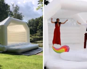 bouncy castle wedding, bounce house wedding, wedding bouncy castle, wedding bouncy house