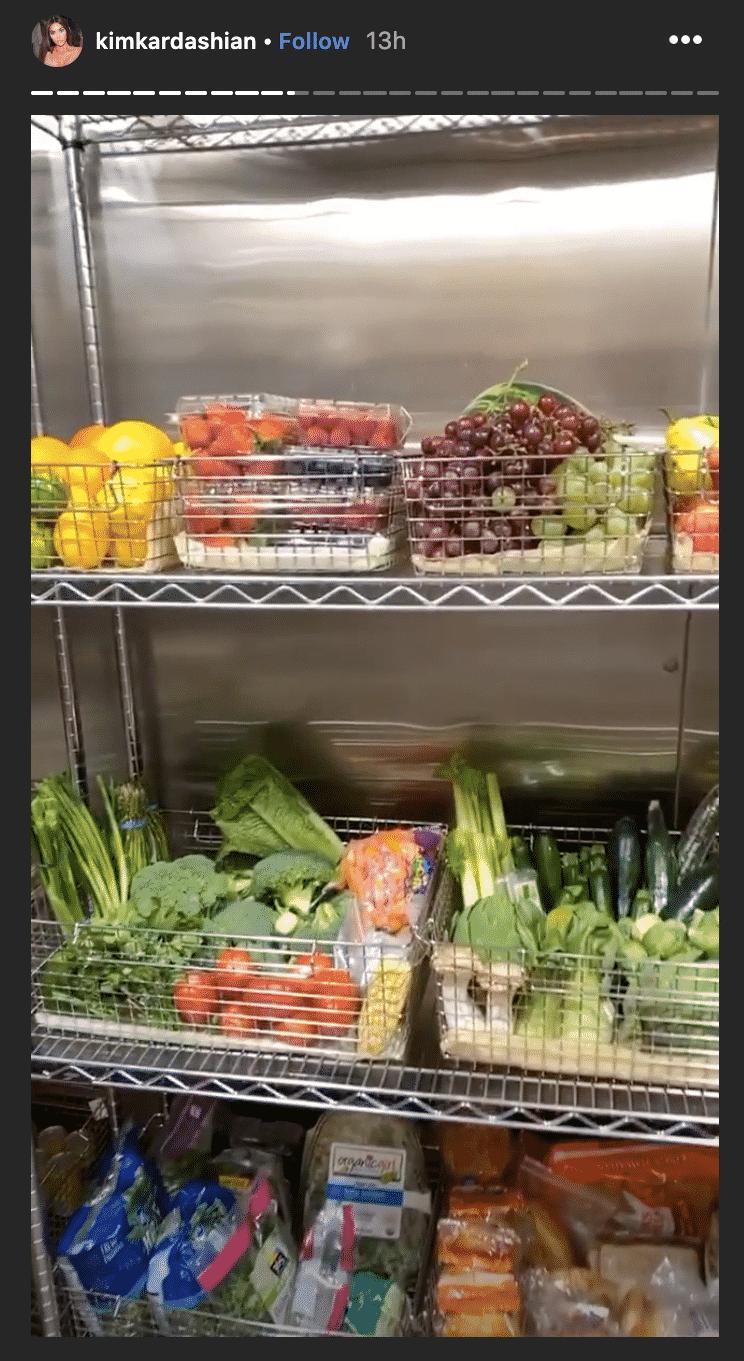 kim kardashian fridge, kim kardashian kitchen, kim kardashian empty fridge