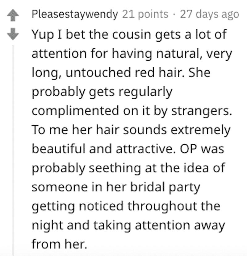 bridezilla cousin merida hair, bridezilla cousin merida hair, bridezilla cousin's hair, bridezilla cousin merida hair aita, bridezilla aita