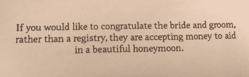 trashy wedding invitation