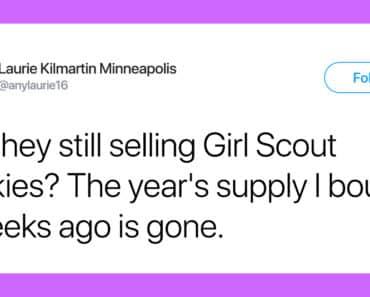 girl scout cookies tweets