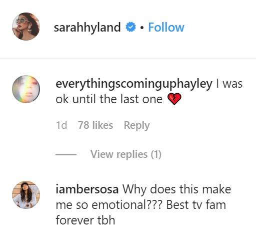 sarah hyland comments