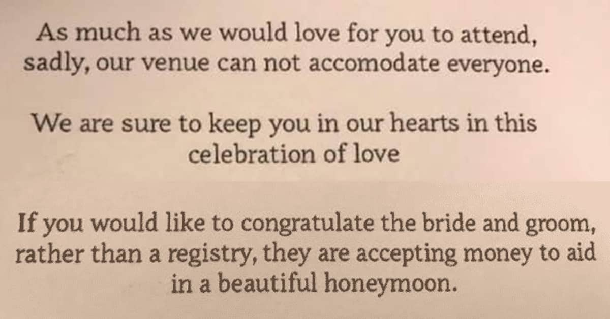 Wedding That Include A Money