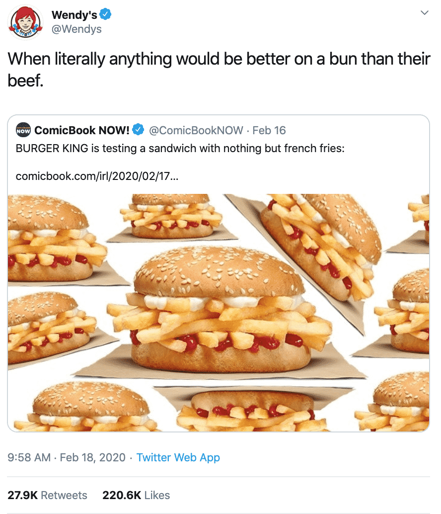 Burger King Tries To Test A New Burger, Gets Roasted By Wendy's