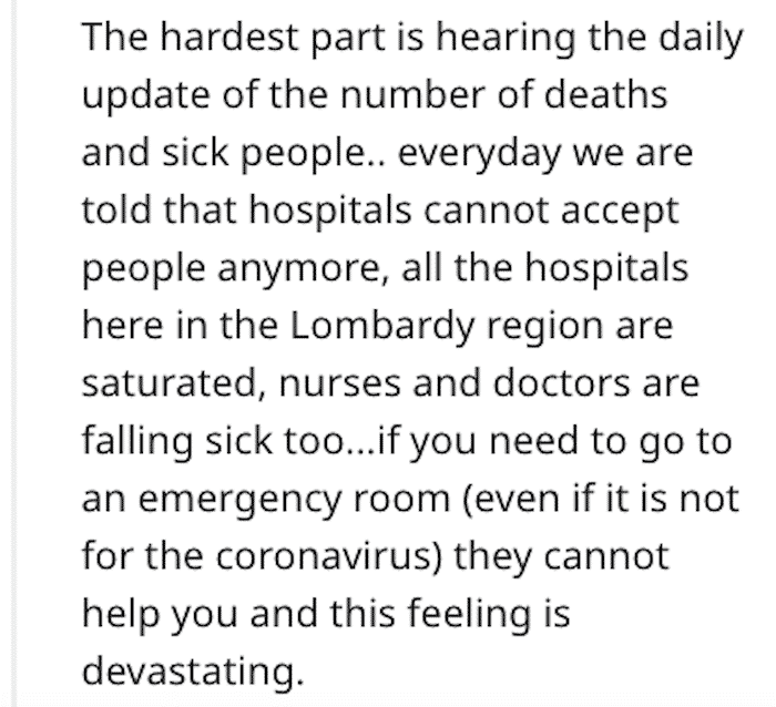 askreddit italy coronavirus, italy coronavirus