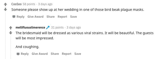 coronavirus bridezilla