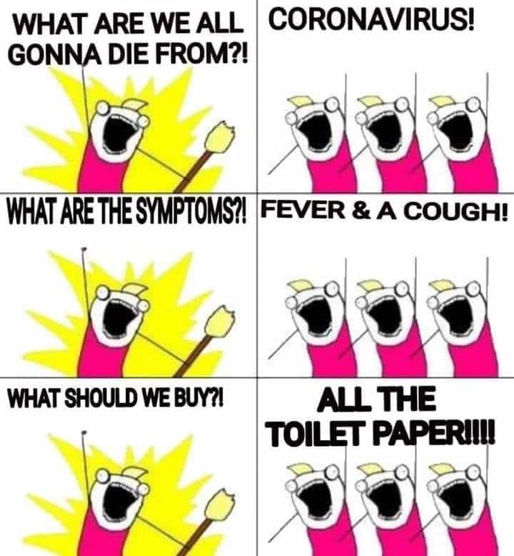 toilet paper meme.