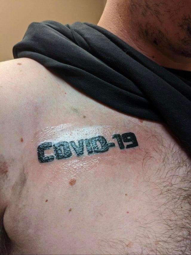 coronavirus tattoos, coronavirus tattoo, covid-19 tattoo