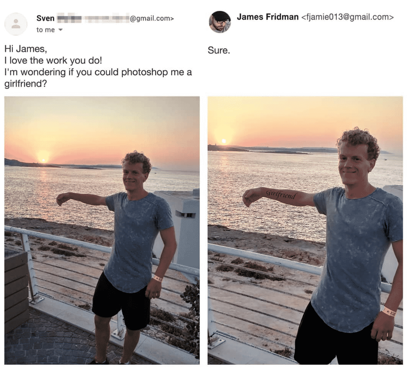 photoshop pranks, photoshop troll, james fridman, photoshop troll james fridman