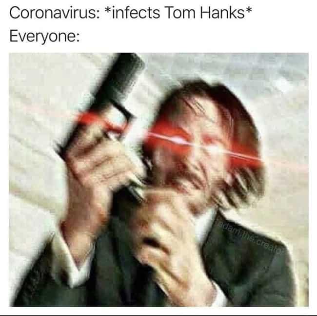 tom hanks coronavirus jokes, tweets about tom hanks coronavirus, tom hanks coronavirus instagram