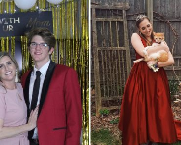 Teens with improvised prom dates