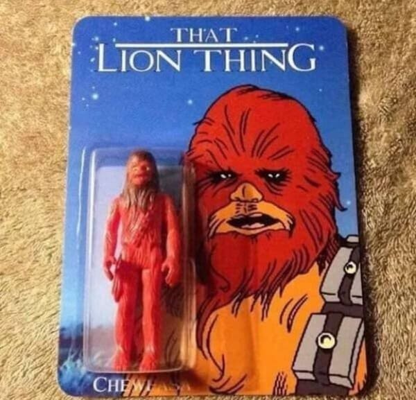 that lion thing action figure funny picture